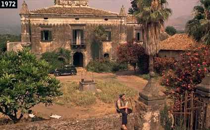 """Il Castello degli Schiavi di Fiumefreddo di Sicilia, dimora del boss Michael Corleone ne """"Il Padrino"""" (www.davinotti.com)"""