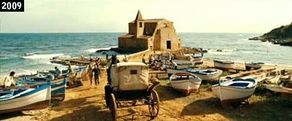 """La chiesa di San Vito a Ciminna come appare nel film """"Baarìa"""" (www.davinotti.com)"""