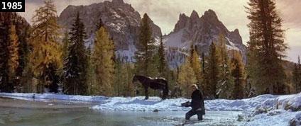 Il laghetto dAntorno come appare in Ladyhawke (www.davinotti.com)
