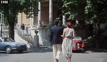 """La Casina Valadier al Pincio teatro delle nozze sfumate di Renato Pozzetto in """"Mia moglie è una strega"""" (www.davinotti.com)"""