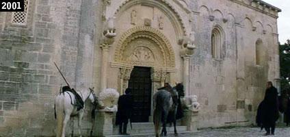 L'abbazia di San Leonardo in Lama Volara, nelle campagne di Manfredonia, vista nel film di Pupi Avati I cavalieri che fecero l'impresa (www.davinotti.com)