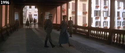 Sandra Bullock sul celebre ponte di legno di Bassano in una scena di Amare per sempre (www.davinotti.com)