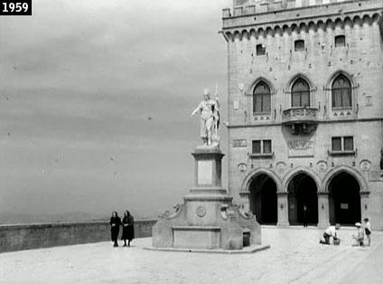 """Il Palazzo Pubblico di San Marino come appare nel film """"Estate violenta"""" (www.davinotti.com)"""