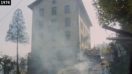 Lex hotel Miravalle di Cardano visto nel film Mussolini: ultimo atto (www.davinotti.com)