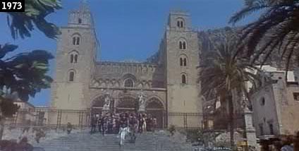 Il duomo di Cefalù nel film ''La schiava io ce lho e tu no'' (www.davinotti.com)