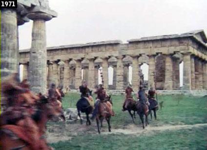 Scena de '' Scipione detto anche lAfricano'' girata tra i templi di Paestum (www.davinotti.com)