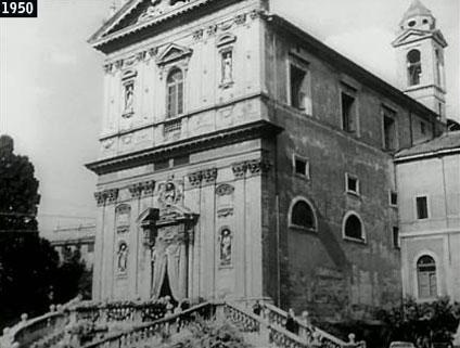 """La chiesa dei Santi Domenico e Sisto era la chiesa della """"Prima comunione"""" della figlia di Aldo Fabrizi nell'omonimo film di Alessandro Blasetti (www.davinotti.com)"""