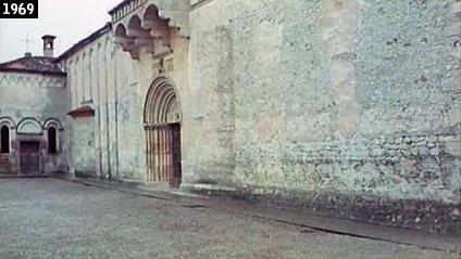 """Il duomo di Spilimbergo come appare nel film """"La monaca di Monza - Una storia lombarda"""", dove viene presentato come il monastero nel quale visse la religiosa di manzoniana memoria  (www.davinotti.com)"""
