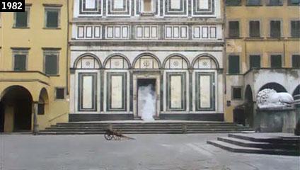 """Empoli, la collegiata di Sant'Andrea nella più drammatica scena de """"La notte di San Lorenzo"""" (www.davinotti.com)"""