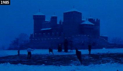 Il castello di Fenis visto in Fracchia contro Dracula (www.davinotti.com)